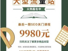2019附子SEO关门课程:大型权重流量站实战课程(完结)