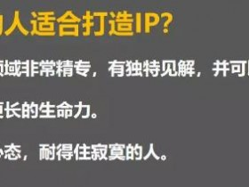 什么人适合成为IP?如何打造个人IP?