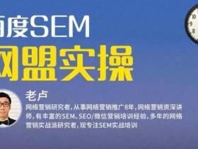麦子学院:百度SEM竞价入门操作课程+SEM网盟实操系列课程(共18节视频)
