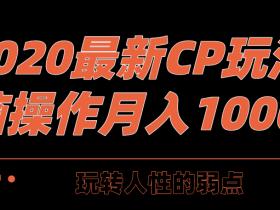 三疯拆手狂赚第28计:2020最新CPS玩法,玩转人性弱点,无脑操作月入10000+