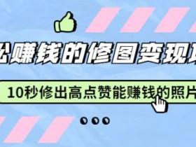 赵洋轻松赚钱的修图变现项目:10秒修出高点赞能赚钱的照片(18节视频课)