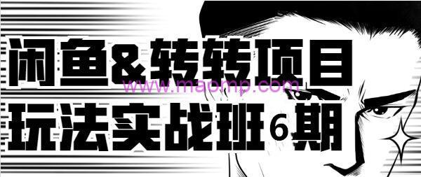 宅男闲鱼《2019闲鱼&转转项目玩法实战班》线上第六期(完整视频+文档)