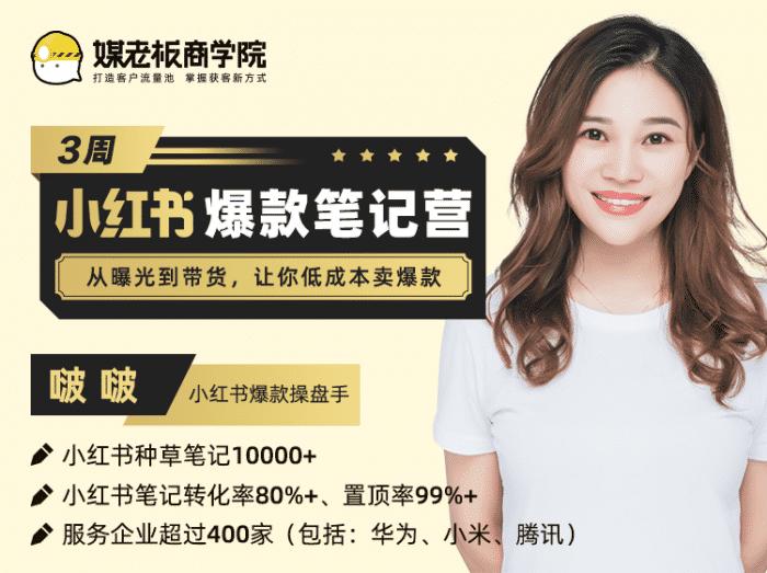 高档新项目:小红书app3周爆品手记夏