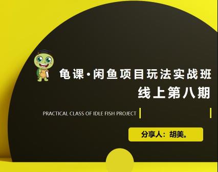 宅男:闲鱼项目玩法实战班·第8期(第2节)如何选择适合自己:选品、择品、上品、优化细节。