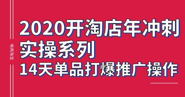 2020年淘宝冲刺练习系列,14天tiktok爆炸式推广操作,震撼和销售核心技能[价值4288元]